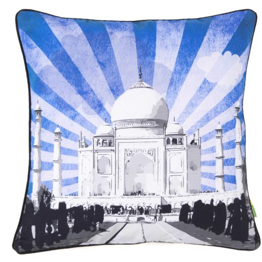 Taj Mahal Sunburst Cushion Cover