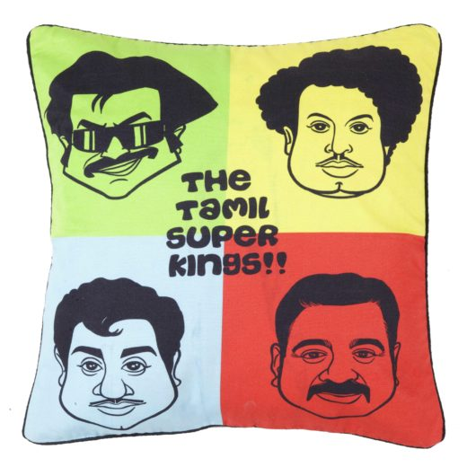 Tamil Superkings Cushion Cover