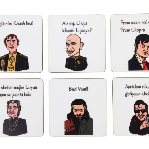 Bollywood Villains Coaster Set