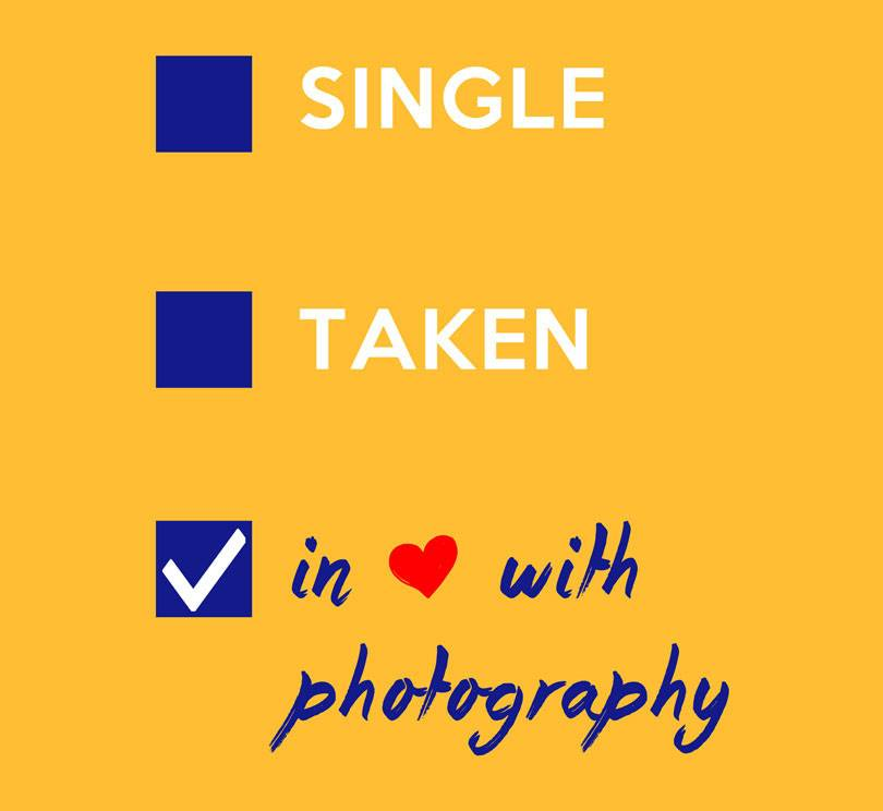 Single, Taken, In love with Photography Mousepad Design