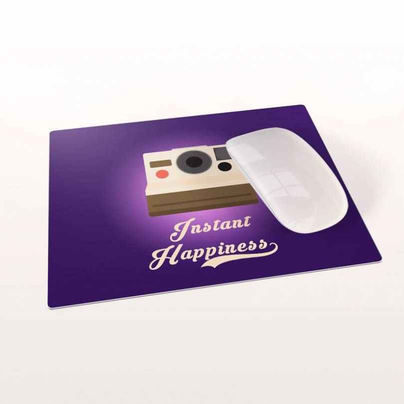 Instant happiness Lilac Purple mousepad