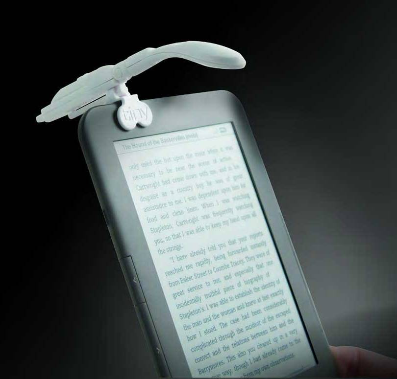 Really Tiny Book Light with e-Reader Adapter