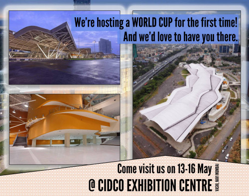 CIDCO exhibition center for IFSC World Cup Navi Mumbai