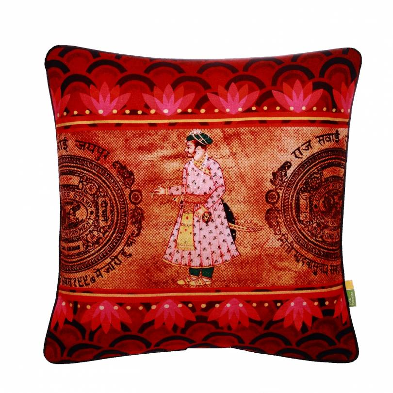 Indian King Cushion Cover