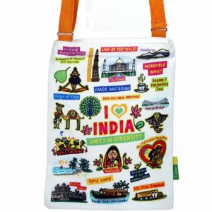 Small White India Sling Bag