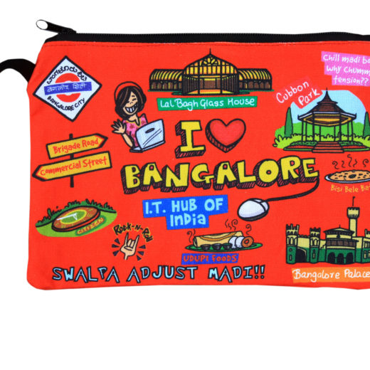 Big Bangalore Cotton Pouch