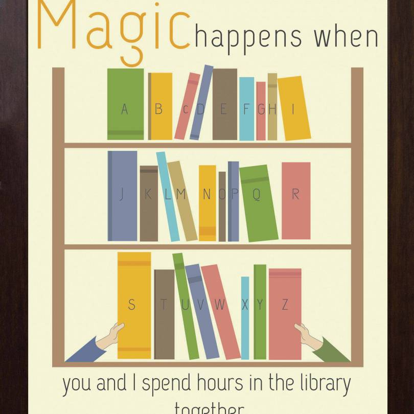 Magic Happens When You Spend Time In Library Quotes - Walliners (FM20)