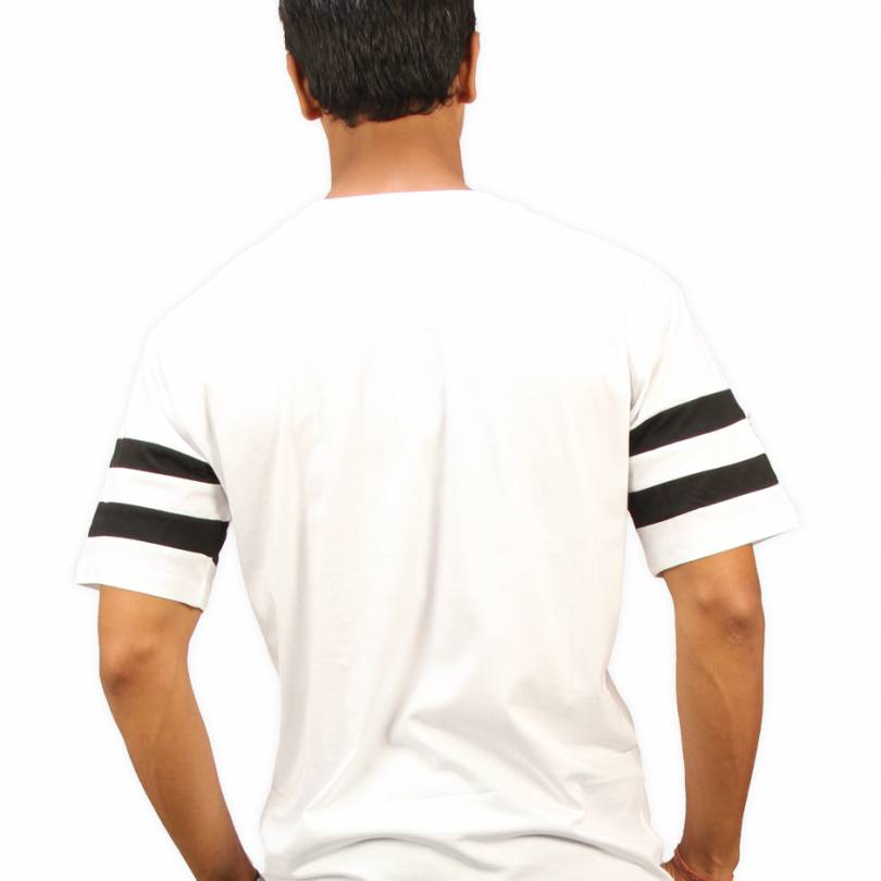 Fuck the Rules White Round Neck Half Sleeves T-Shirt - High Five Clothing