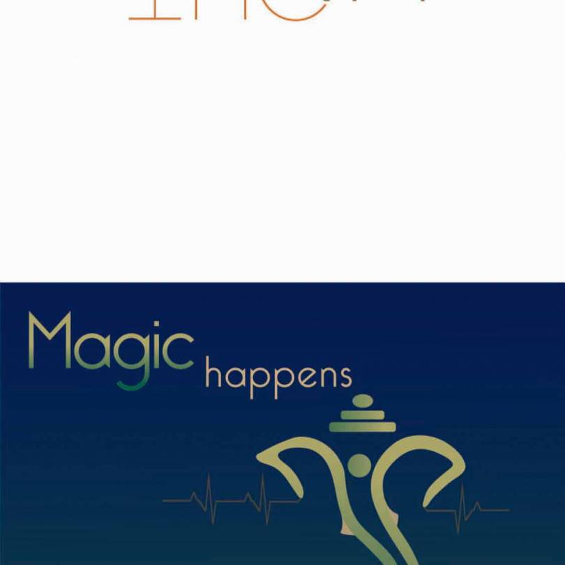 Magic Happens When You Welcome in Your Heart Ganesha Quotes - Walliners (GM04)