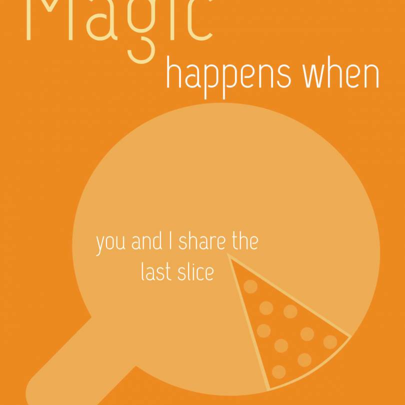Magic Happens When You Share Pizza Quotes - Walliners (PM14)