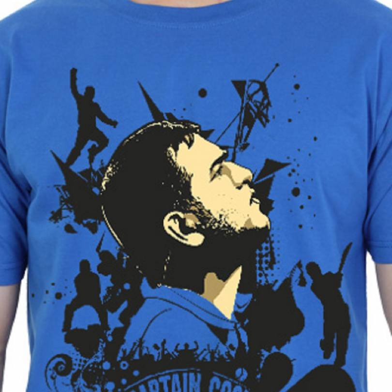 EETEE M S Dhoni Men's Casual Round Neck T-shirt