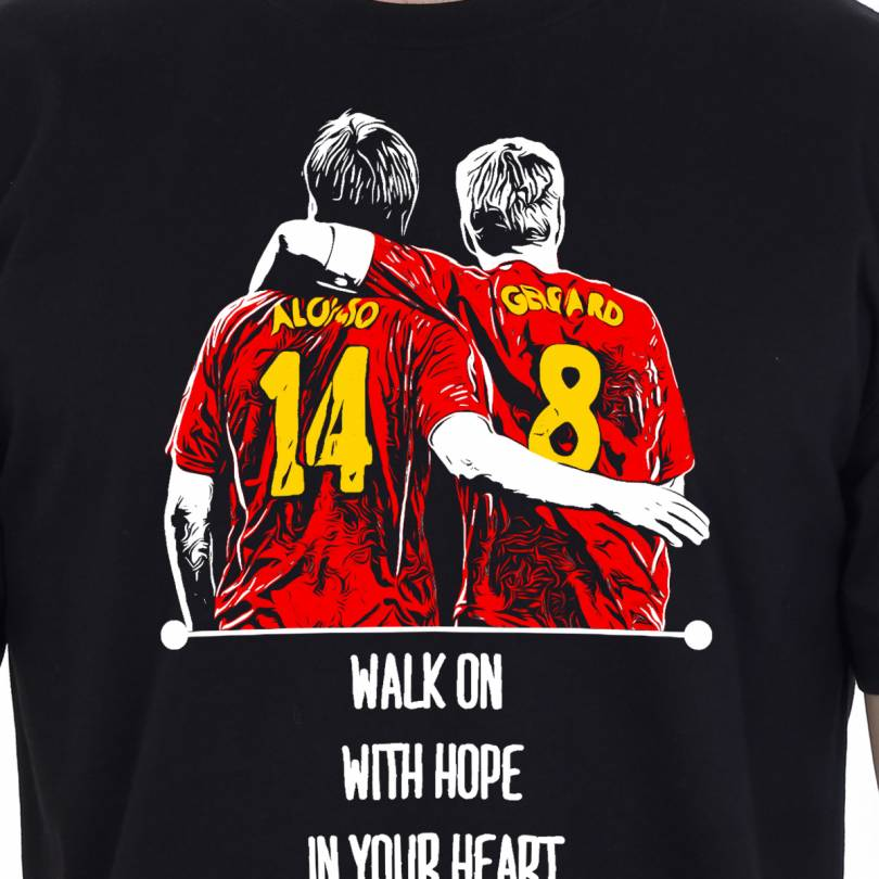 EETEE Liverpool Gerrard-Alonso Black T-shirt