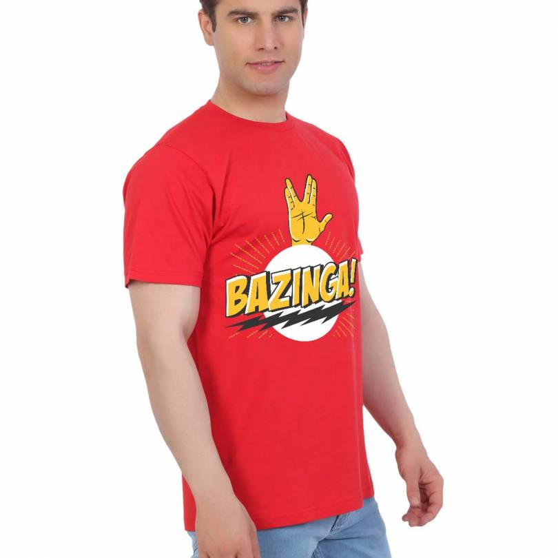 EETEE TV Series Bazinga Red T-shirt