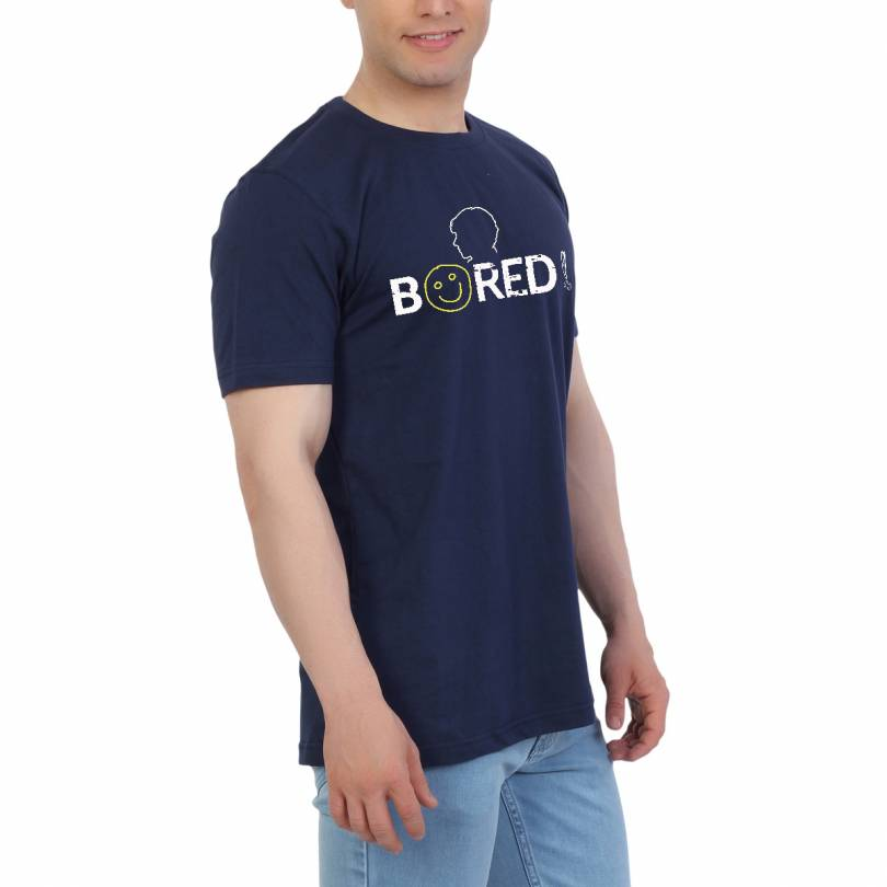 EETEE TV Series Bored Navy Blue T-shirt