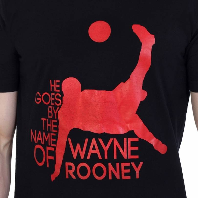 EETEE Man Utd Wayne Rooney Black T-shirt