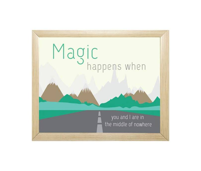 Magic Happens When You Go Road Trip Quotes - Walliners (FM01)