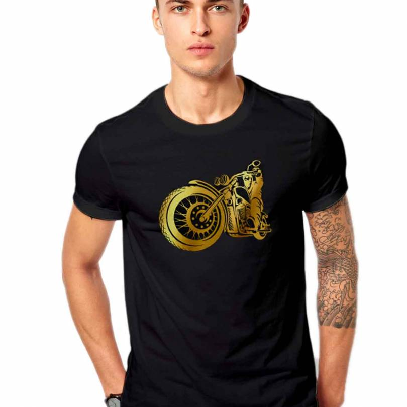 Biker Fan-Art Metallic Unisex  T-shirt