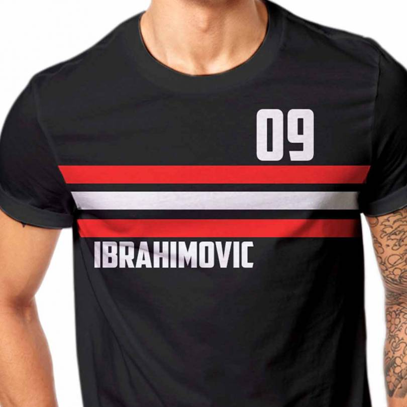 Ibrahimovic Manchester Untied Football Fan-Art  T-shirt