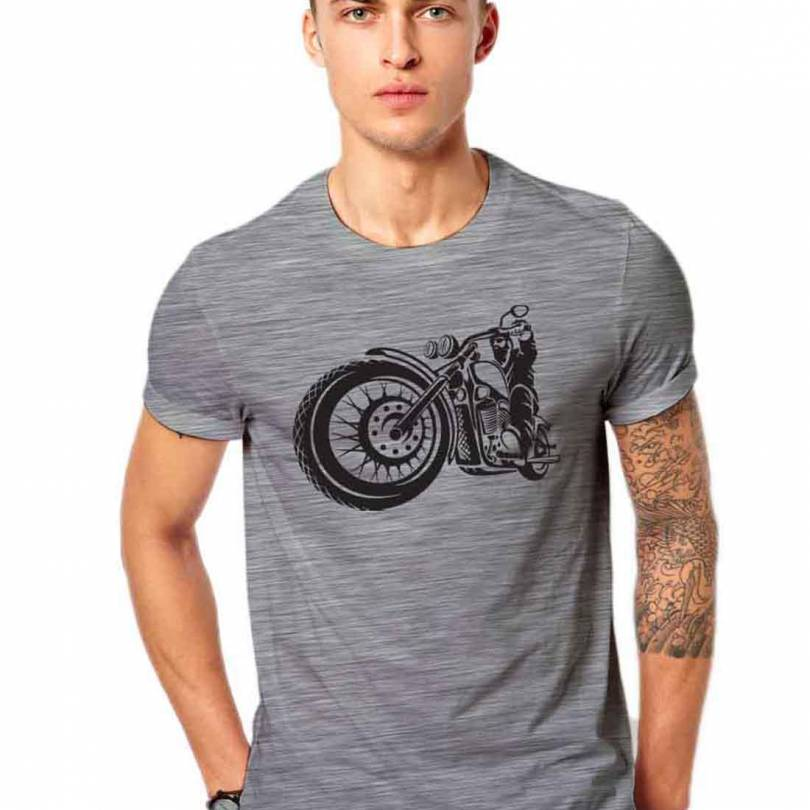Biker Fan-Art Grey Unisex  T-shirt