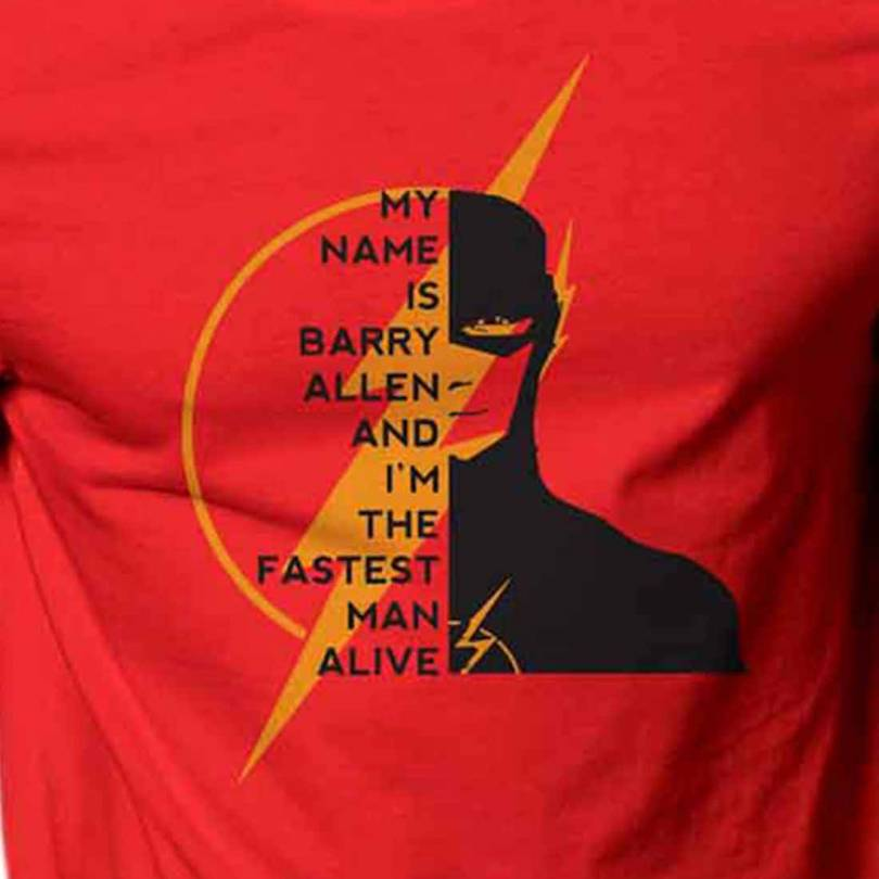 Flash Lightening Superhero Fan-Art Royal Unisex  T-shirt