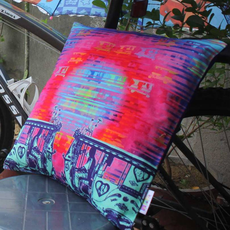 Two Taxi Cushion Cover