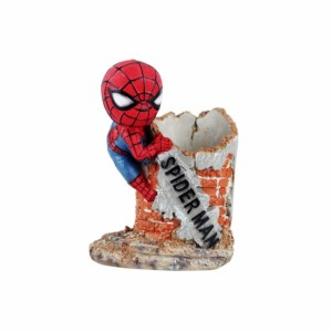 Spiderman Penstand Wowheads Miniature Figurine Stationery Décor Marvel Avengers Collectible (Fragile Resin made)