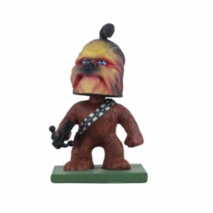 Star wars Chewbacca Hollywood Wowheads Bobbleheads Figurine Toys Lucas disney (Fragile Resin made)