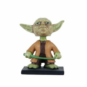 Star wars Yoda Jedi Hollywood Wowheads Bobbleheads Figurine Toys Lucas disney (Fragile Resin made)