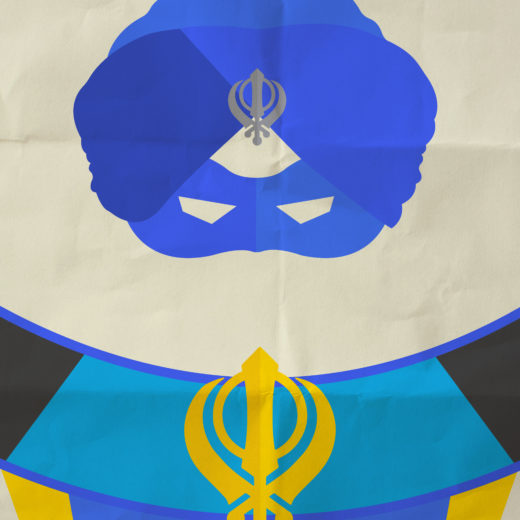 A Flying Jatt poster Wowheads- Classic art Turban