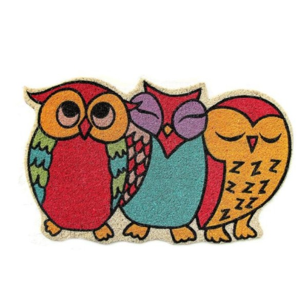 Quirky Owls Colourful Doormat