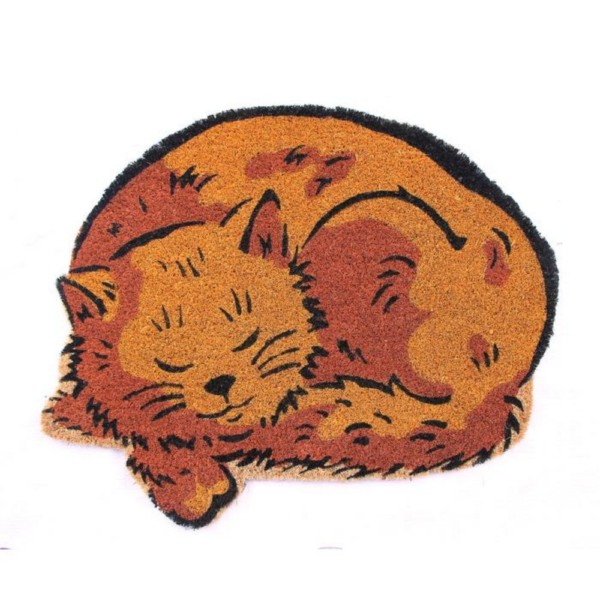 Sleeping Cat Doormat