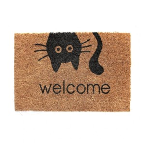 Cat Welcome Print Doormat