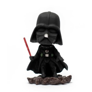 Darth Vader using Force Lightsaber Bobblehead Handmade Fragile