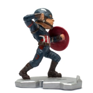 Captain america fighting Penstand miniature Marvel Avengers Handmade Fragile