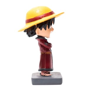 Luffy 4 inch Bobblehead Red cloths One Piece Handmade Fragile