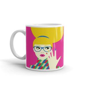 Pop Lady - Pop Art Ceramic Tea & Coffee Mug