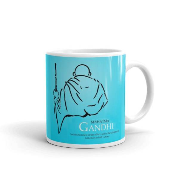 Gandhi - Motivational Ceramic Tea & Coffee Mug