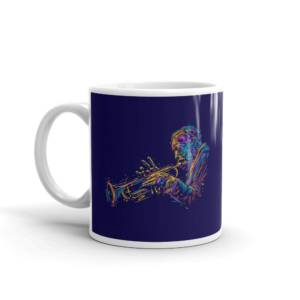 Jazz Trumpet Player - Music Ceramic Tea & Coffee Mug