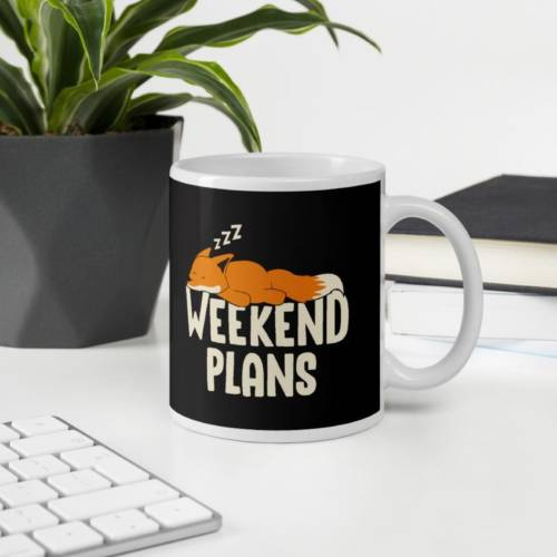 Weekend Plan - Humour Ceramic Tea & Coffee Mug
