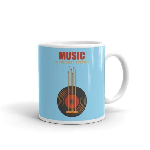 Music is Best Therapy - Music Ceramic Tea & Coffee Mug