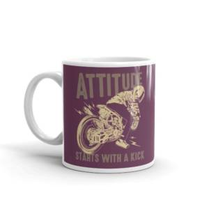 Attitude Start with Kick - Humour Ceramic Tea & Coffee Mug