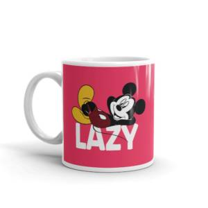 Lazy Micky Mouse - Humour Ceramic Tea & Coffee Mug