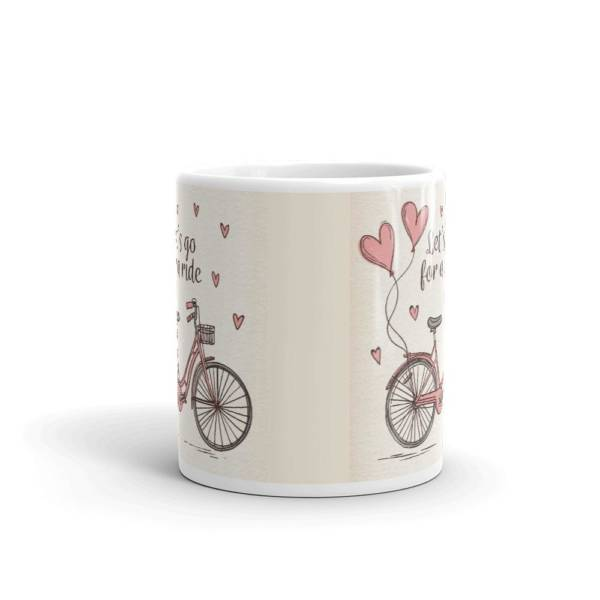 Let's Go For Ride - Typography Ceramic Tea & Coffee Mug