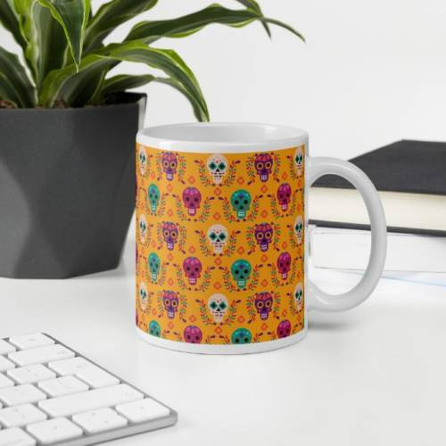 Skull - Pattern Ceramic Tea & Coffee Mug