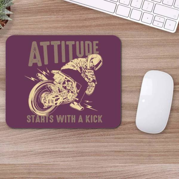 Attitude Start with Kick  Mousepad for Laptop / Computer