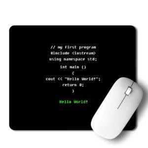 Coding Hello World!  Mousepad for Laptop / Computer
