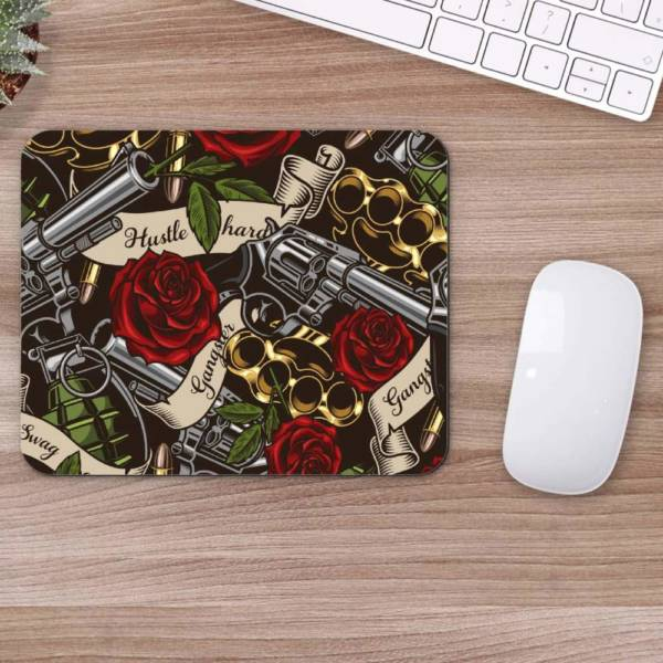 Gangster Red Rose  Mousepad for Laptop / Computer