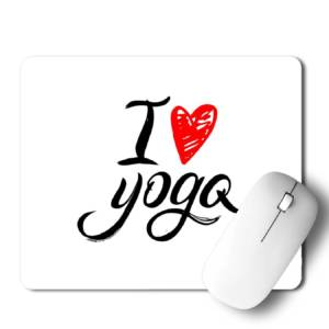 I Love Yoga  Mousepad for Laptop / Computer