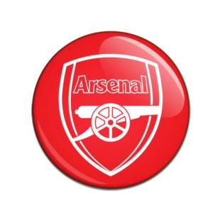Arsenal Button Badge WHT CR