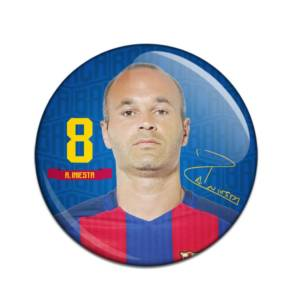 F.C. Barcelona Button Badge Andres Iniesta